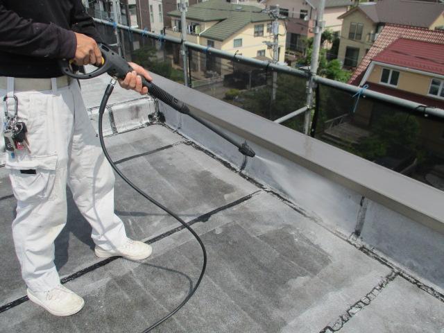屋上・タイル面洗浄003