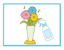花瓶の水にキエルキンを加えると、水が腐りにくく、取り換えが少なくすみます。
