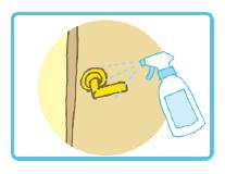 ドアノブや取っ手等の除菌にもお使い頂けます。